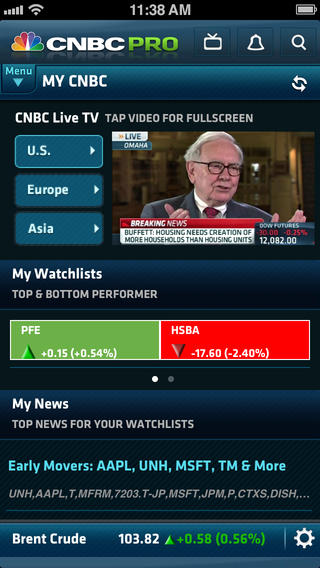 CNBC PRO for iPhone itunes iOS