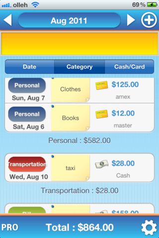 Expense Manager Free iTunes iOS