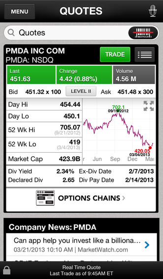 E* TRADE Mobile iTunes iOS app