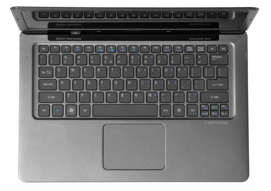 Acer Aspire S3 Ultrabook keyboard