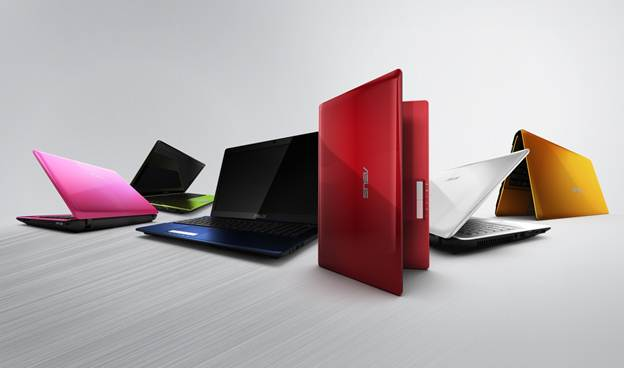 Asus K45A colors pink blue red green yellow orange white colorful