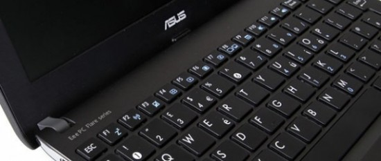 Asus Eee PC X101CH keyboard