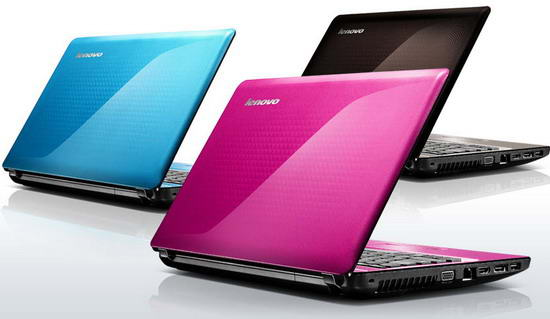 Lenovo Z470 color blue pink black