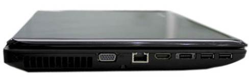 Lenovo G470 side view VGA LAN HDMI