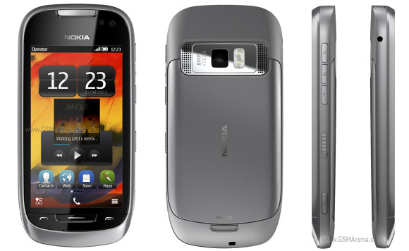 Thiết kế Nokia 701 Silver