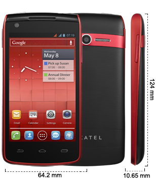 Alcatel One Touch 992D - Cherry Red