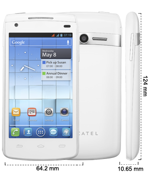Alcatel One Touch 992D - Pure White