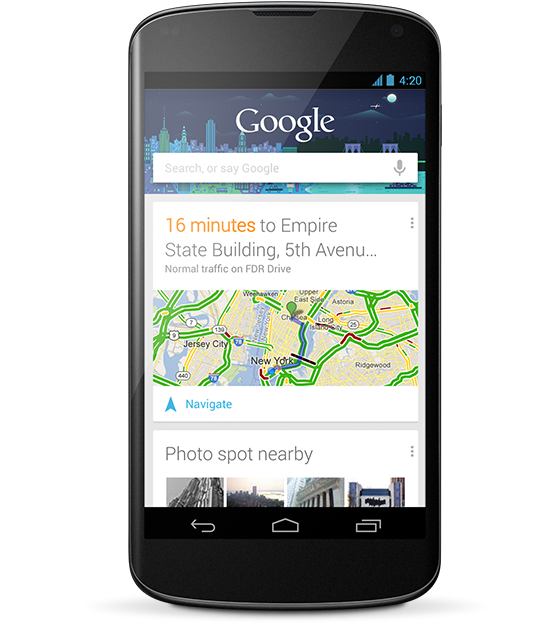 LG Nexus 4 - Google Now