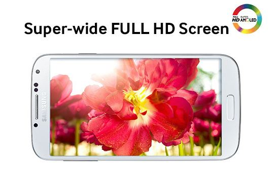 Samsung Galaxy S4 Super-wide Full HD AMOLED LCD