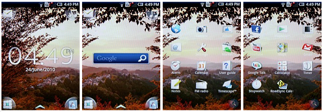 Sony Ericsson Xperia X8 Screen