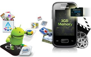 Sam Sung Galaxy Pocket S5300 - Bộ nhớ