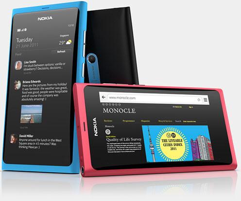 Thiết kế Nokia N9 với 3 màu