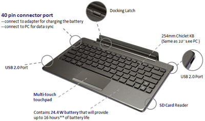 Asus Eee Pad Transformer TF101G keyboard