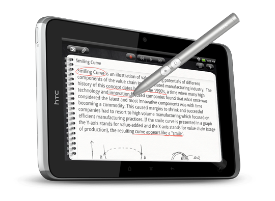 HTC Flyer tablet Note