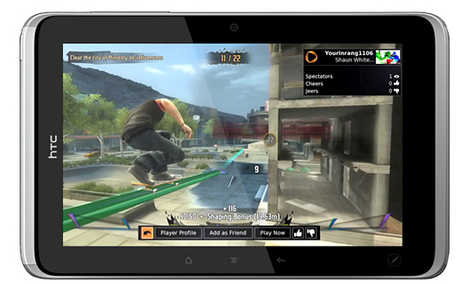 HTC Flyer tablet 10 gaming