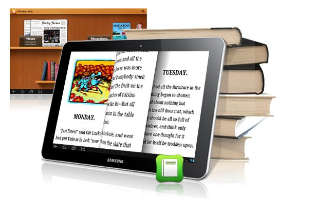 Samsung Galaxy Tab 8.9 P7300 Reading Ebooks