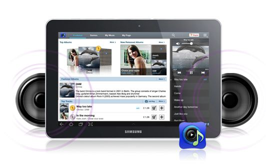 Samsung Galaxy Tab 7.7 P6800 Music Playing