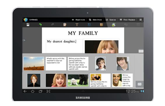 Samsung Galaxy Tab 10.1 3G P7500 Office