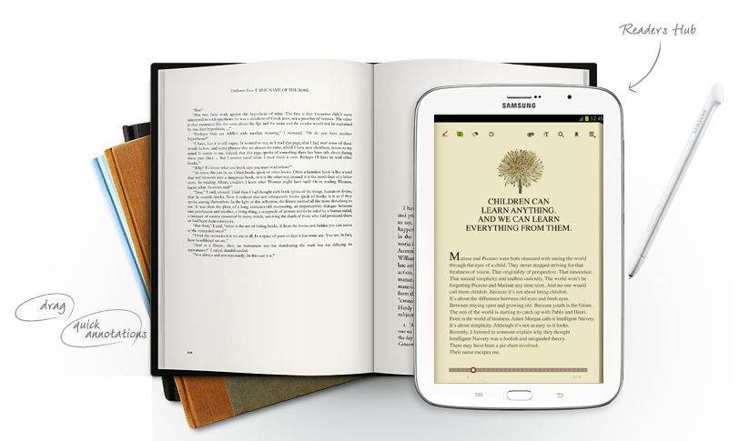 Samsung Galaxy Note 8.0 - Đọc sách reading mode