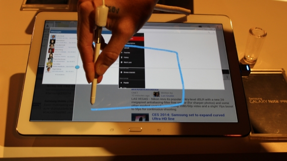 Galaxy note pro - but s pen