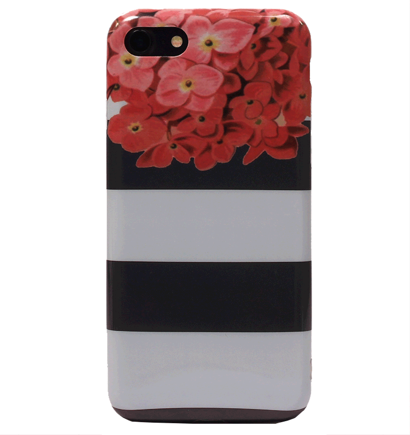 Ốp lưng iPhone 7 Silicon Stripe floral