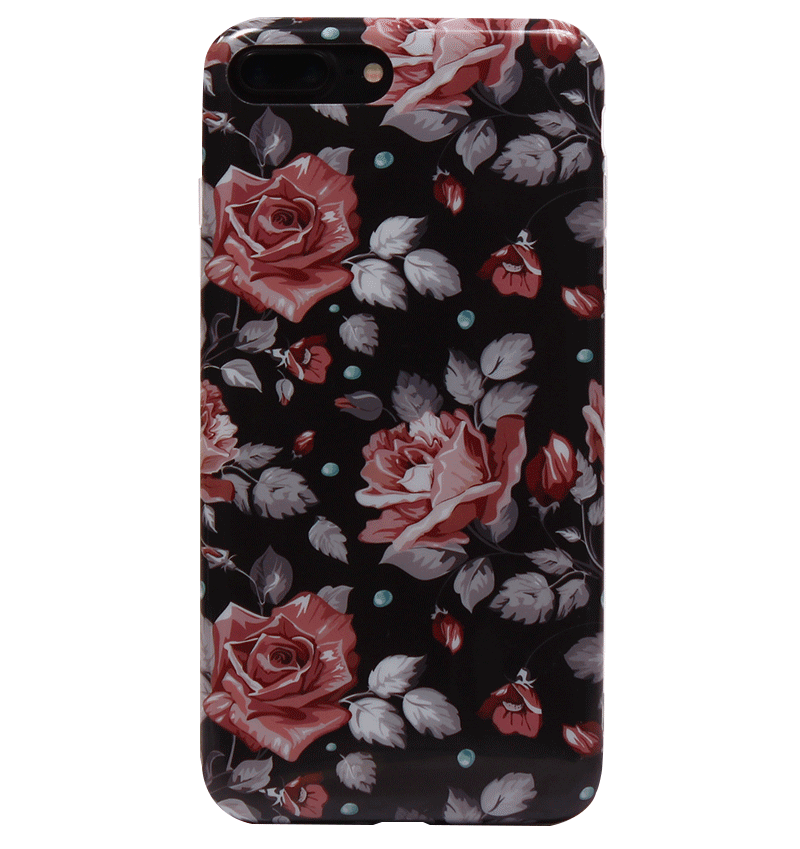 Ốp lưng iPhone 7 Plus Silicon Red Roses