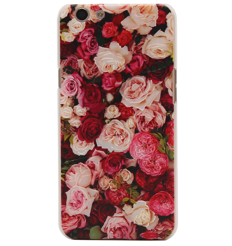 Ốp lưng OPPO F1s nhựa sần color roses