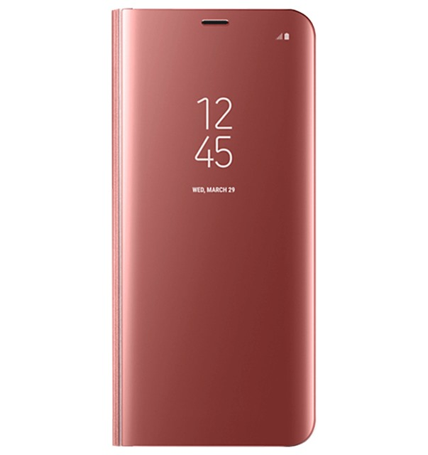 Bao da Samsung S8 Plus Clear View Standing Pink
