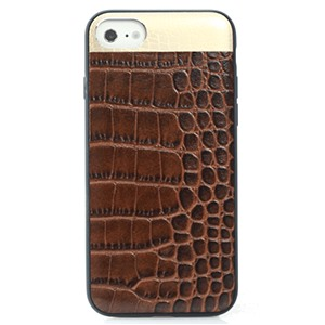 Ốp lưng iPhone 7 Croco Leather Brown