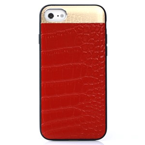 Ốp lưng iPhone 7 Croco Leather Red