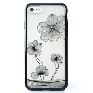 Ốp lưng iPhone 7 Crystal Floral Black