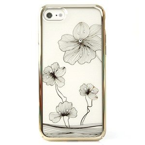 Ốp lưng iPhone 7 Crystal Floral Gold