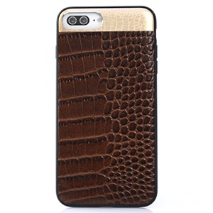 Ốp lưng iPhone 7 Plus Croco Leather Brown