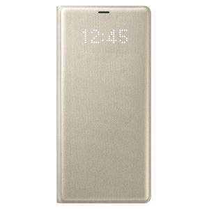 Bao da Samsung Note 8 Led View Gold