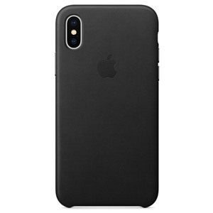 Apple Ốp lưng iPhone X Leather Black