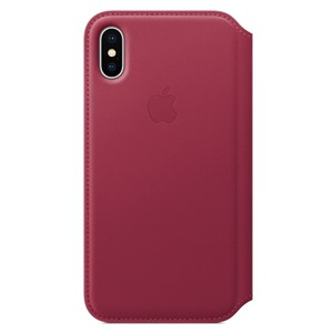 Apple Bao da iPhone X Leather Folio Berry