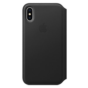 Apple Bao da iPhone X Leather Folio Black