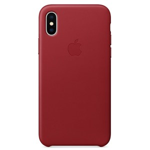 Apple Ốp lưng iPhone X Leather Red