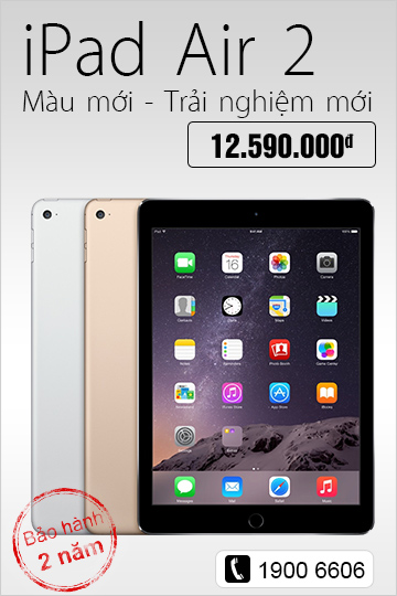 iPad air 2 - Chi tiết SP
