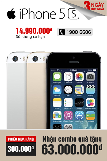 iPhone 5S - Chi tiết SP