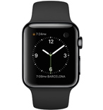 PKNK Dây đồng hồ Apple Watch 38mm Black Sport with Space Grey Stainless Steel Pin MJ4F2ZA/A