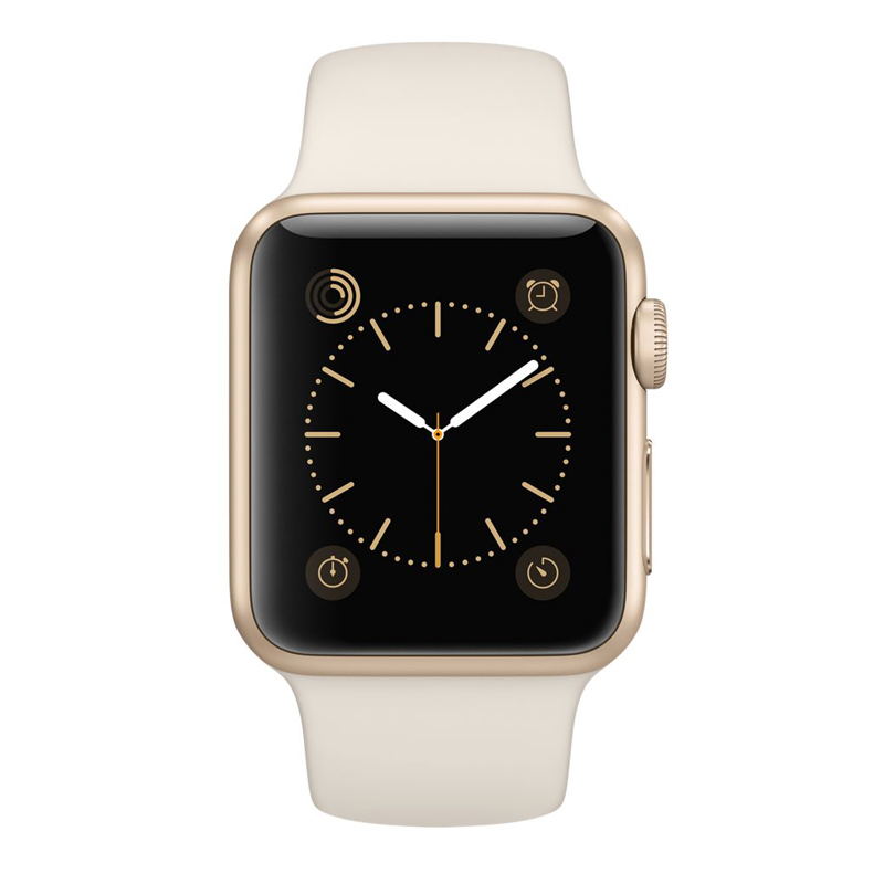Apple Watch Sport 38mm Gold Aluminum Case with Antique White Sport Band MLCJ2VN/A