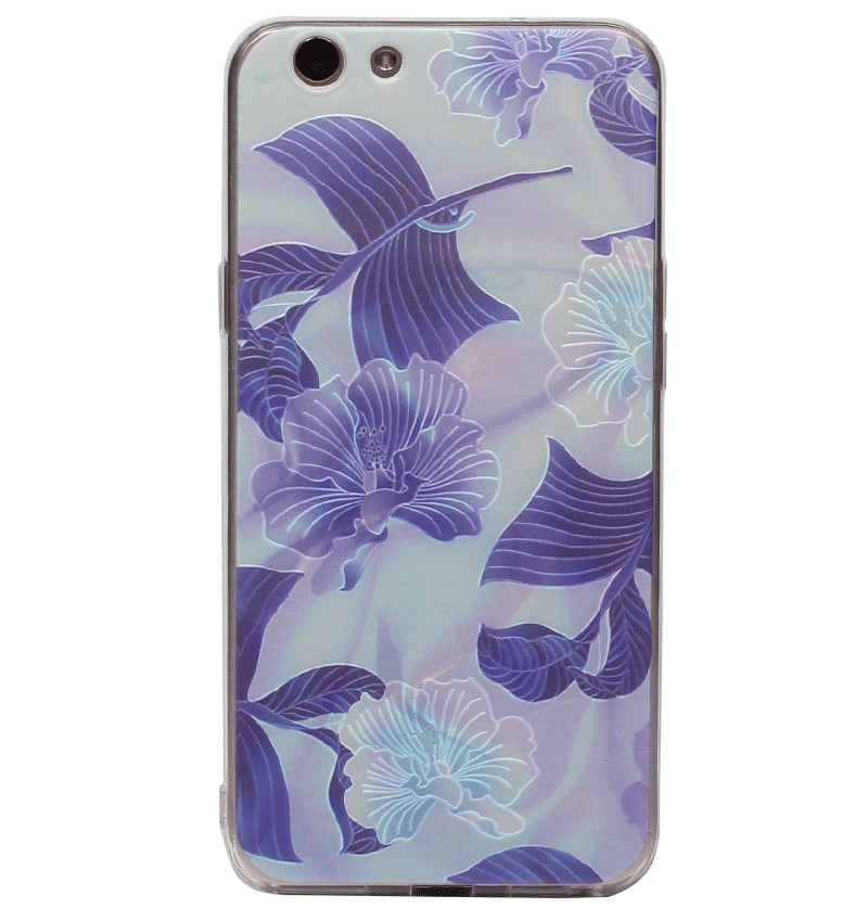 Ốp lưng Oppo F1S Silicon Blue Floral