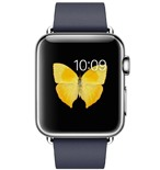 Apple Watch 38mm Stainless Steel Case with Midnight Blue Modern Buckle - Small MJ332VN/A