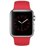 Apple Watch 38mm Stainless Steel Case with Red Sport Band MLLD2VN/A