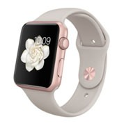 Apple Watch Sport 42mm Rose Gold Aluminum Case with Stone Sport Band MLC62VN/A