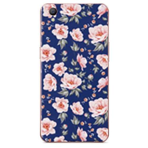 Ốp lưng Oppo A37 Silicon White Roses
