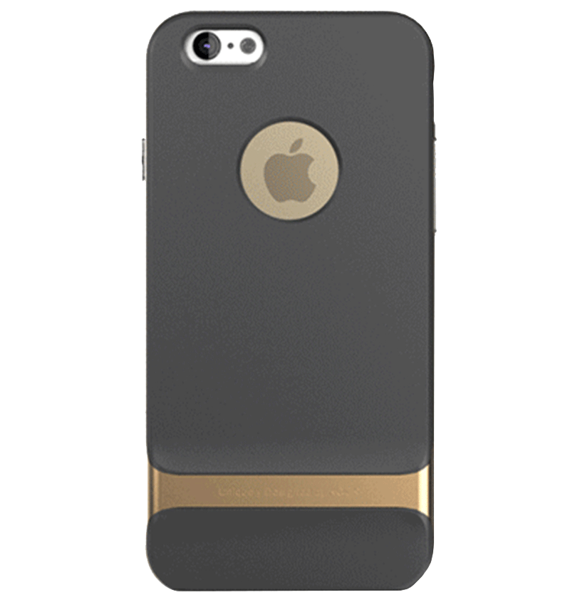 Ốp lưng iPhone 6/6S Rock Khung Gold