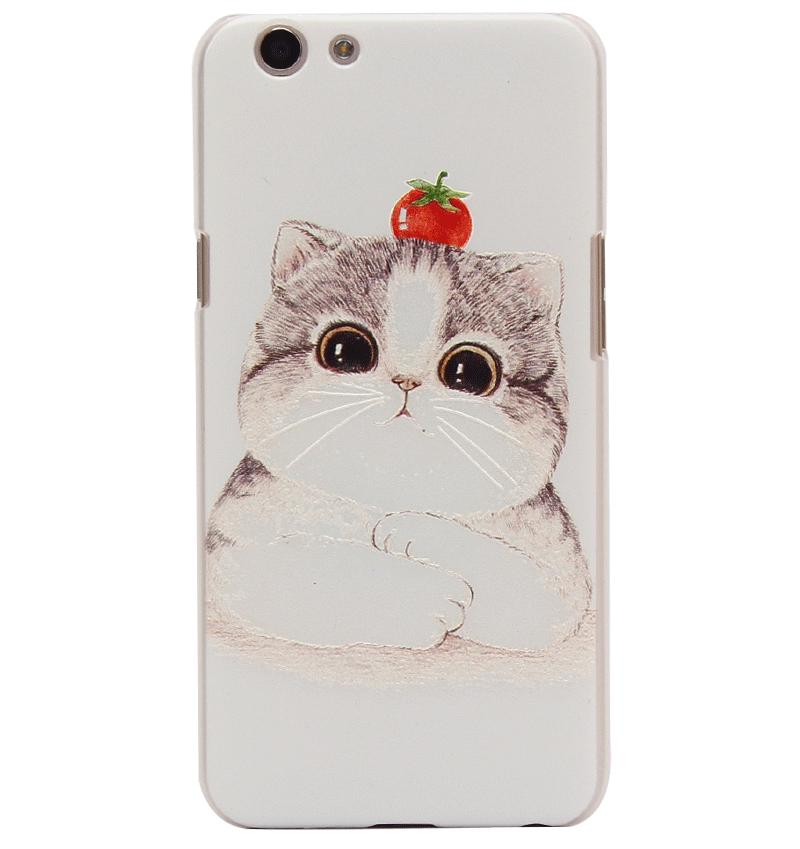Ốp lưng Oppo F1S Nhựa sần cute kitty