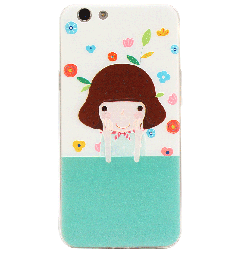 Ốp lưng Oppo F1S Silicon Flower Girl